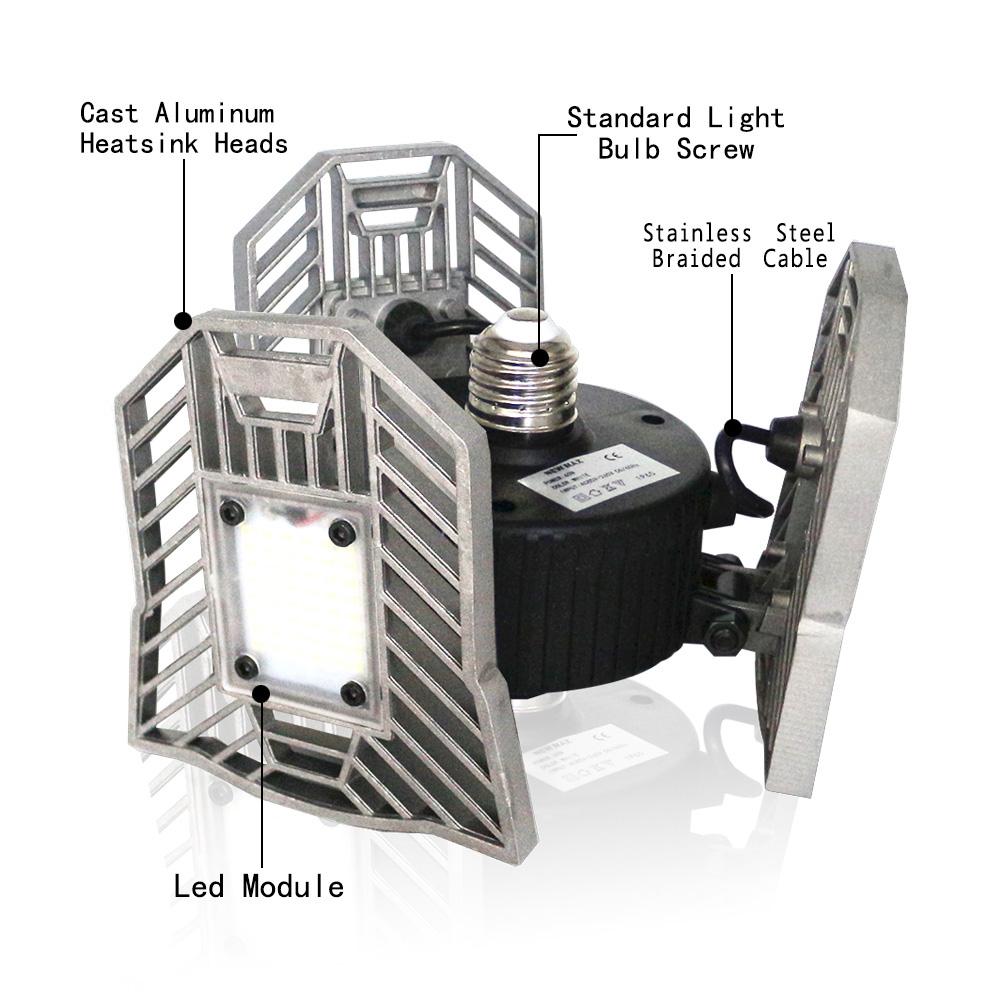 Led Lights For Domestic Garage: LED Deformable Garage Light LED Bulb With Radar Lamp